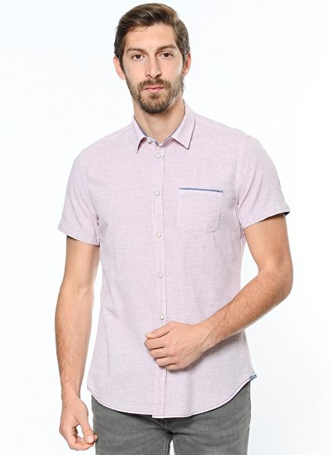 Koton Kısa Kollu Gömlek Mercan